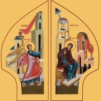 Благовещение Пресвятой Богородицы, иконы на Царские Врата (арт.06600)