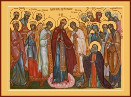 Явление Пресвятой Богородицы преподобному Серафиму Саровскому, икона (арт.06626)