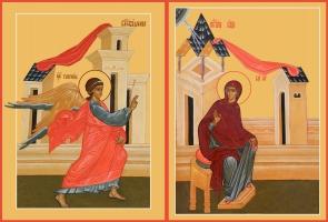 Благовещение Пресвятой Богородицы, иконы на Царские Врата (арт.06629)
