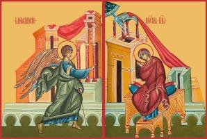 Благовещение Пресвятой Богородицы, иконы на Царские Врата (арт.06655)
