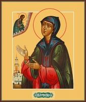 Евфросиния Суздальская благоверная княгиня, преподобная, икона (арт.06893)