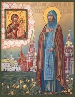 Евфросиния (Евдокия) Московская, преподобная, икона (арт.06947)