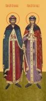 Борис и Глеб благоверные князья-страстотерпцы, икона (арт.00981)