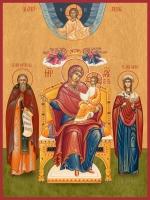 Семейная икона. Изготовление на заказ  (арт. S-011)