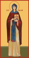 Преподобная Анфиса Мантинейская , икона (арт.м0145)