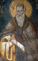 Преподобный Павел Препростый, икона (арт.м0441)