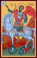 Великомученик Феодор Стратилат, Гераклийский, икона (арт.м0496)