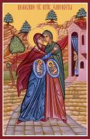 Целование Божией Матери и праведной Елисаветы, икона (арт.м0528)