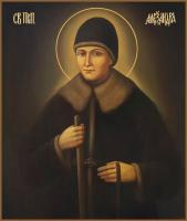 Александра Дивеевская (Мельгунова), Преподобная, икона (арт.м0541)