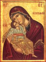 Икона Божией Матери Сладкое Лобзание (Сладкое Целование, Гликофилуса), икона (арт.м0543)