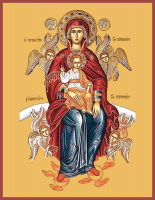 Честнейшая Херувим икона Божией Матери, икона (арт.м0556)