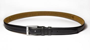 00112 Пояс ремень мужской кожаный, трехслойный, прошитый. Ширина 35 мм (арт.МП1) коричневый