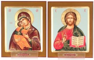 Венчальная пара икон Господь Вседержитель (арт.37800) и Божия Матерь Владимирская (арт.37799)