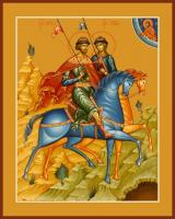 Борис и Глеб благоверные князья, икона (арт.06485)