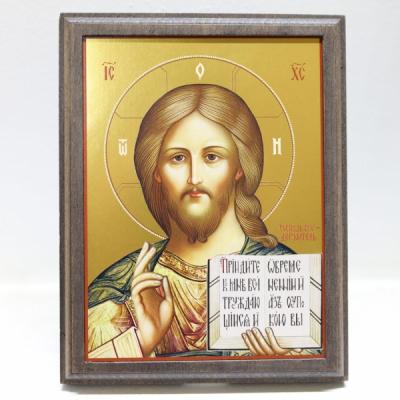 Господь Вседержитель, икона на деревянном основании  (АРТ.55110-ОД)